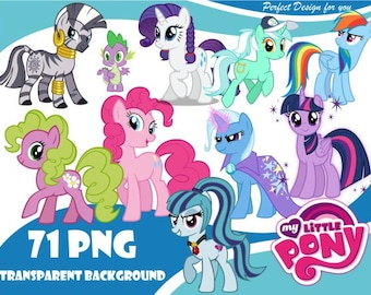 f285497b6ab My Little Pony Clipart My Little Pony PNG My Little Pony characters Clip  art transparent background 300dpi instant download Digital File