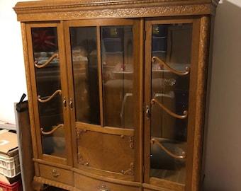 bucherschrank vitrine antik bibliothek biedermann grunderzeit jugendstil