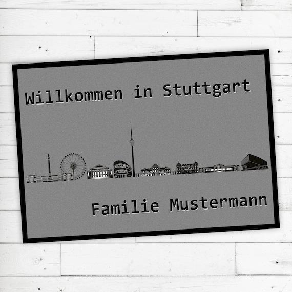 """Floor Mat """"Stuttgart"""" + desired name or desired text"""