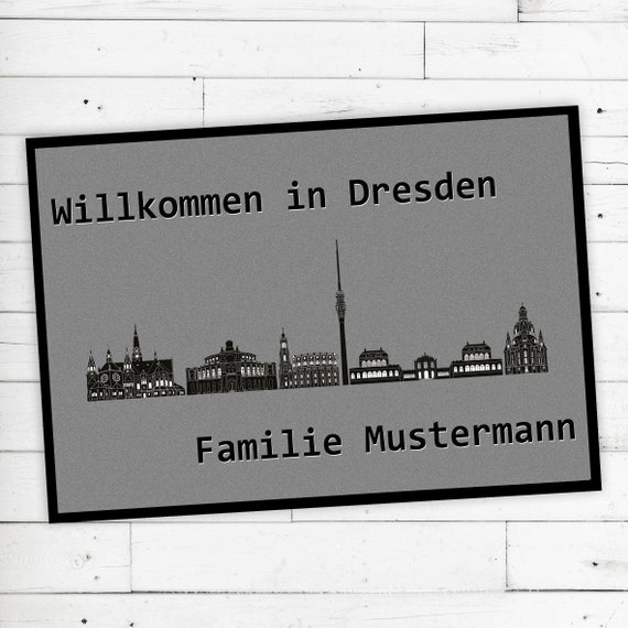 "Floor Mat ""Dresden"" + desired name or desired text"