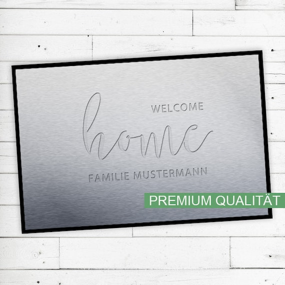 """Floor Mat """"Welcome Home"""" with your name or text"""