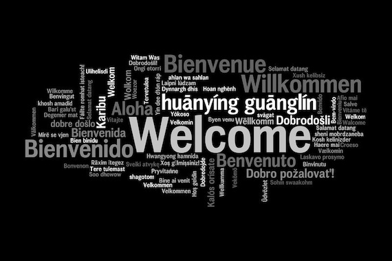 "Doormat as a gift ""welcome, welcome"" 40x60"