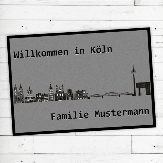 "Floor Mat ""Köln"" with desired name or desired text"