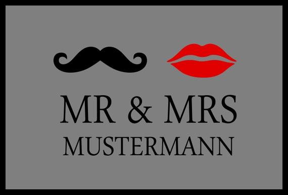 Fussmatte Mit Ihrem Namen Mr Mrs Individuell Etsy