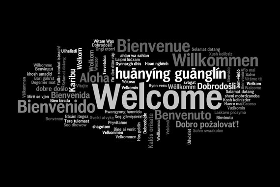 "Floor Mat ""Welcome, welcome"" in all languages"