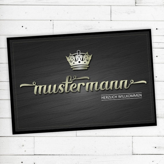"""""""Crown"""" Mat with name or text personalized"""