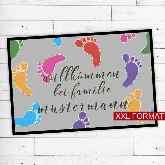 """Foot mat """"footprint"""" with your name or text"""