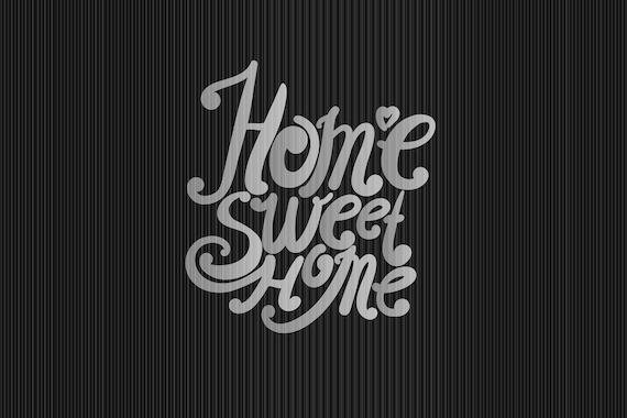 """Floor mat, kicker, motif: """"Home sweet Home"""""""