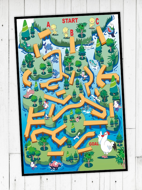 "Game rug ""Chicken Maze"" by name"