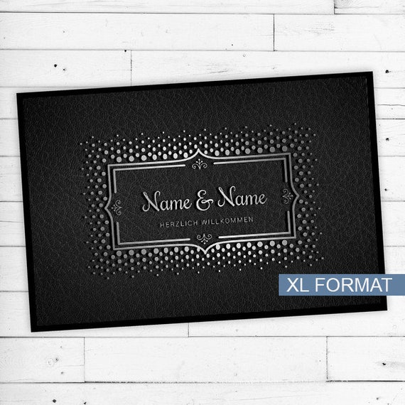 "Mat ""Silver"" with Name & text personalized"
