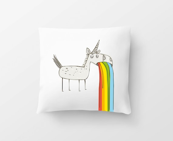 "Pillow Unicorn ""horses in front of the pharmacy...."""