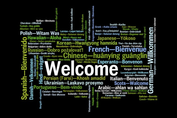 "Floor Mat ""Welcome, welcome.."" In all languages"