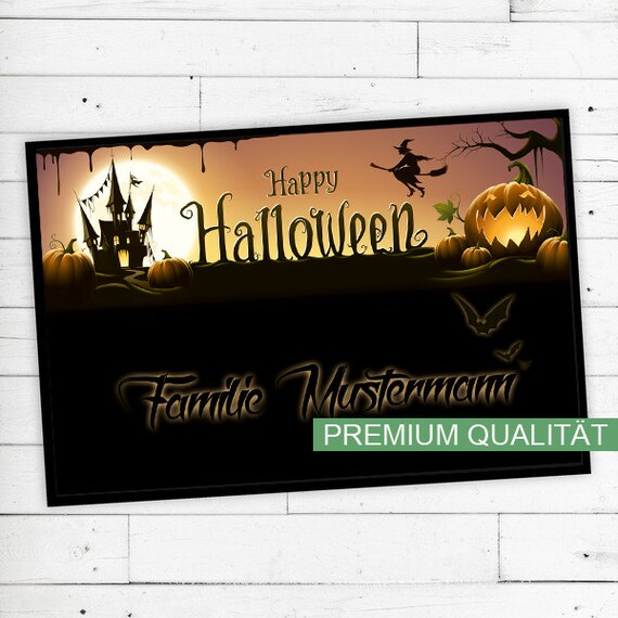 "Floor Mat ""Halloween"" with your name or text"