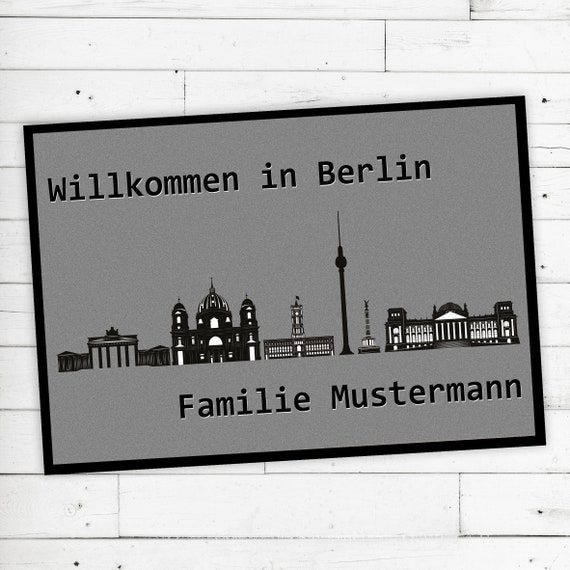 "Floor Mat ""Berlin"" with desired name or desired text"