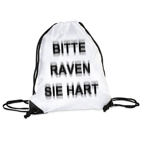 "Gym bag/sports bag motif ""Raven you Hard"""