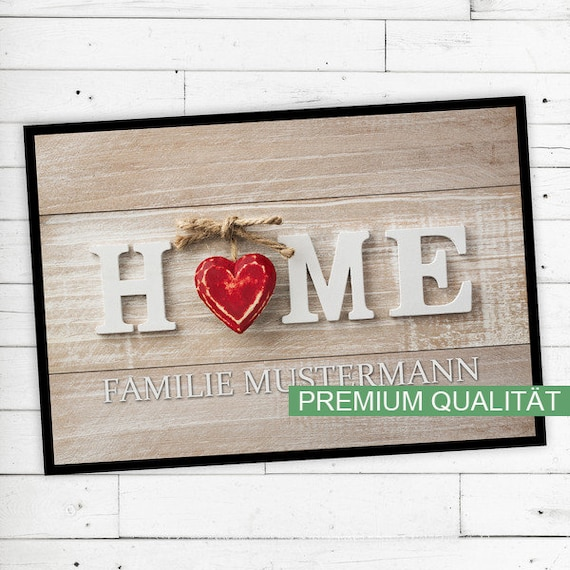 "Floor Mat ""Home"" with your name or desired text"