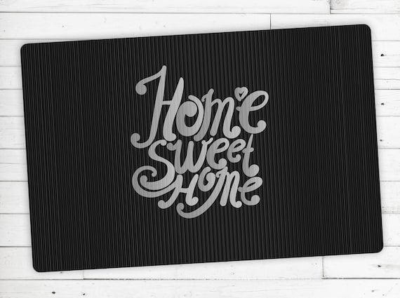 "Floor mat, kicker, motif: ""Home sweet Home"""