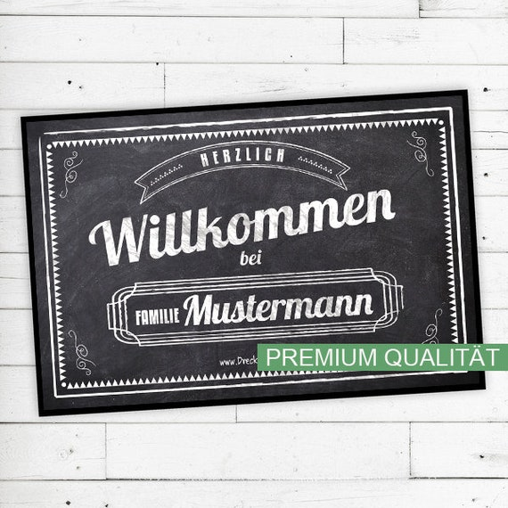 """""""Vintage"""" Mat with Name or text (chalk)"""