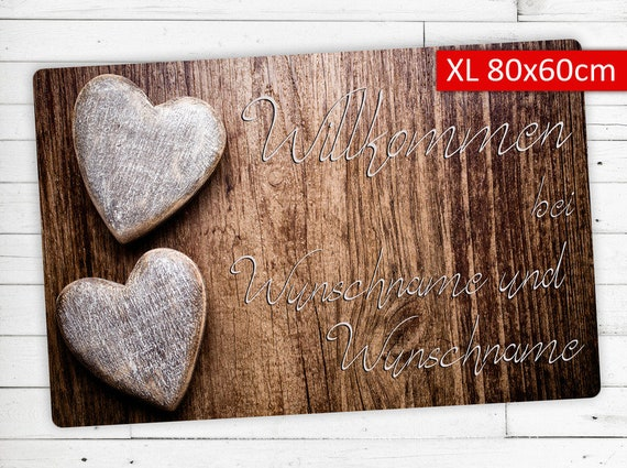 "Mat ""Love"" with your name or wish Text XL"