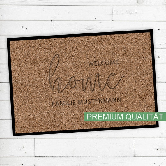 "Floor Mat ""Welcome Home"" with your name or text"