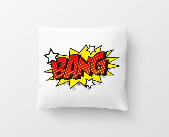 "Pillow ""Bang!"" Comic in 20 different versions"