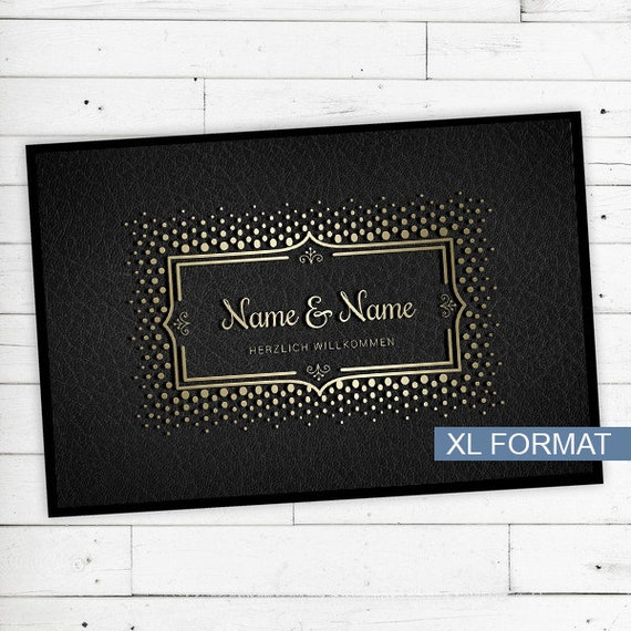 "Mat ""Gold"" personalized with name or text"