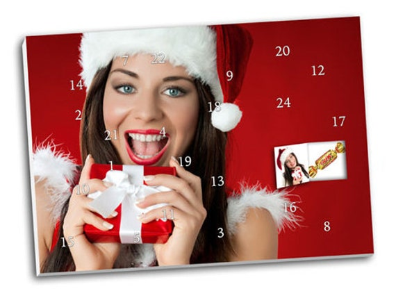 Photo Advent Calendar with Your Photos & Chocolate