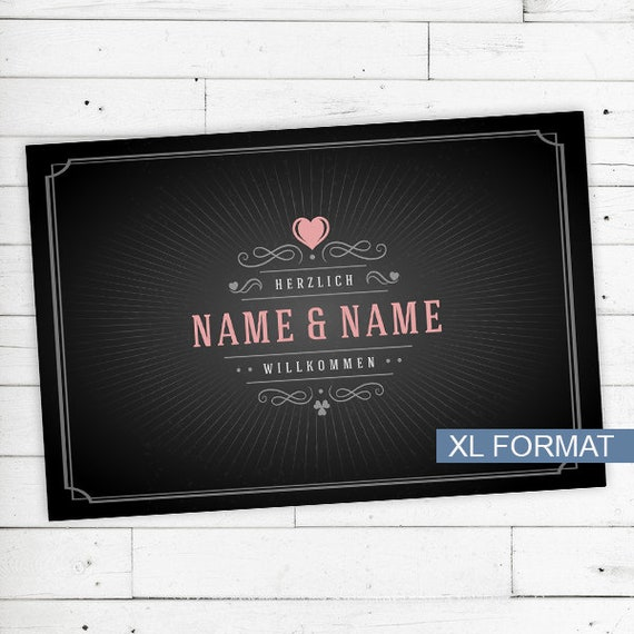 "Floor mat ""Welcome"" with your name or text"