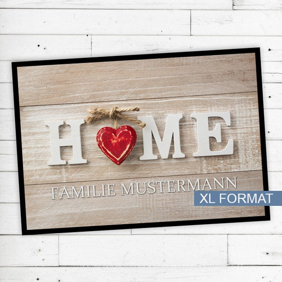 """XL Floor Mat """"home"""" with name or desired text 60x90"""