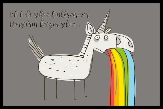 """Foot Mat (Ceder) motif """"unicorn"""""""