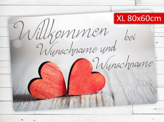 """Mat """"Love"""" with your name or wish Text XL"""