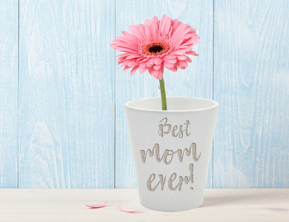 Flower pot individually with text or phrase
