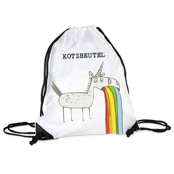"Gym bag/sports bag motif ""unicorn vomit bag"""
