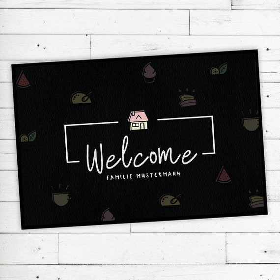 """Floor mat """"Welcome"""" with your name or text"""
