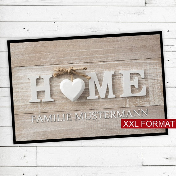 """Floor Mat """"Home"""" with name or text personalized"""