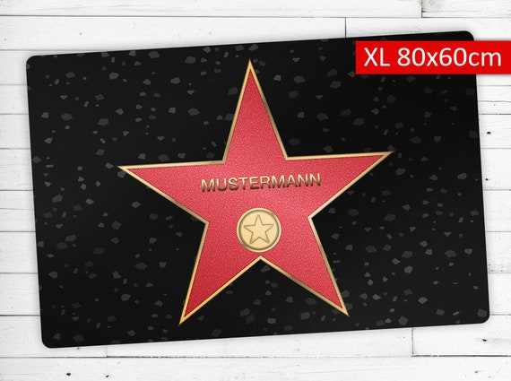 "Doormat with Name your personal ""Walk of Fame"""