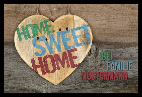 "Doormat with name personalized ""Home Sweet Home"""