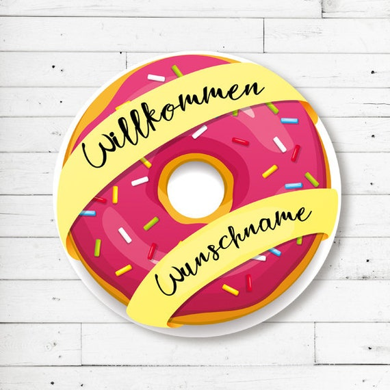 """Donut"" mat with name or text (round)"