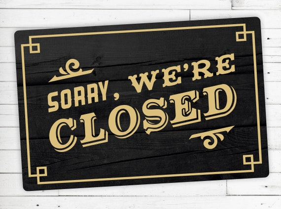 "Floor Mat (Ceder) motif ""Sorry were closed"""