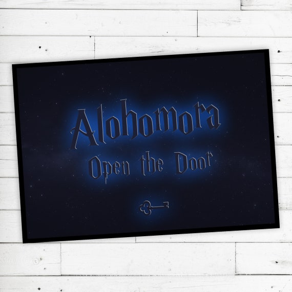 """Floor Mat """"Alohomora"""" Open the door-Harry Potter"""