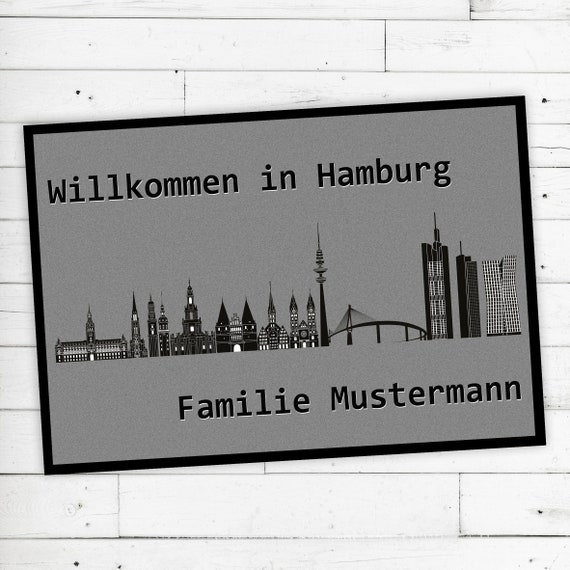 "Floor Mat ""Hamburg"" + desired name or desired text"