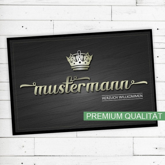 """Crown"" Mat with name or text personalized"