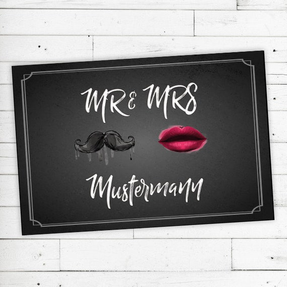 "Doormat Personalized with Name ""Mr & Mrs"" 40X60"