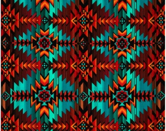 Native American Fabric – Timeless Treasures Southwest Turquoise Fabric