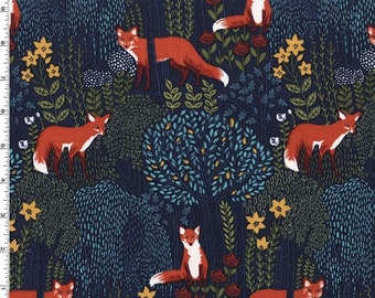 Into the Woods Night Fabric – Fabric with Fox