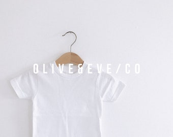 Download Free blank white toddler/kids tee II // t-shirt mockup // JPG download PSD Template