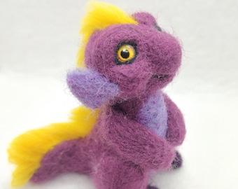 Needle Felted Dragon Creature Figurine