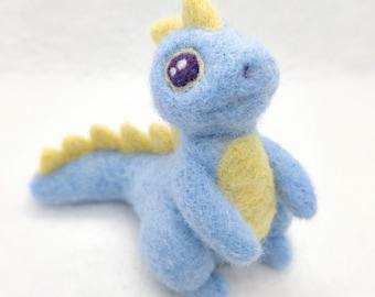 Needle Felted Dragon Figurine