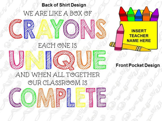We Are Like A Box Of Crayons Each One Is Unique And When