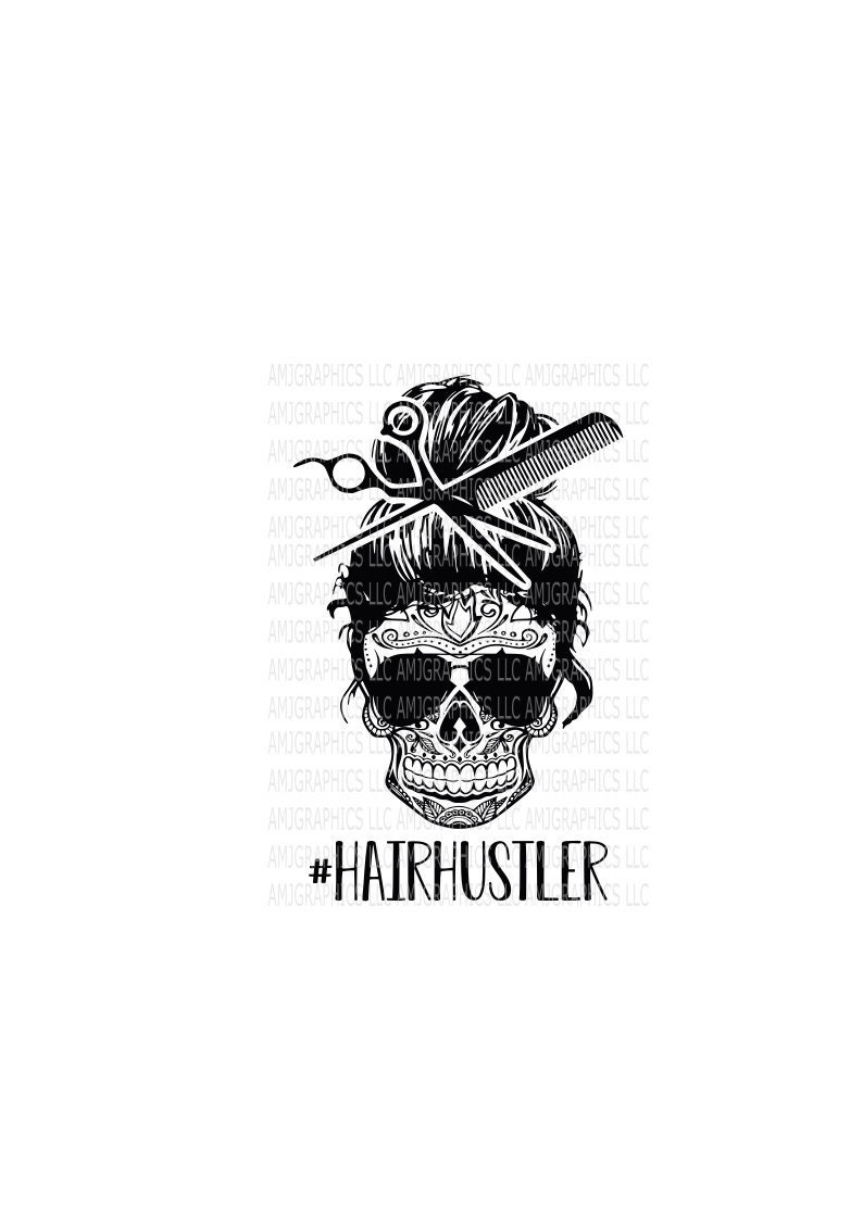 Hair Hustler Sugar Skull Skull Sunglasses Hair Stylist image 0